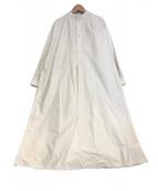 YAECA(ヤエカ)の古着「ロングスモッグドレス」|ホワイト/KOUZO