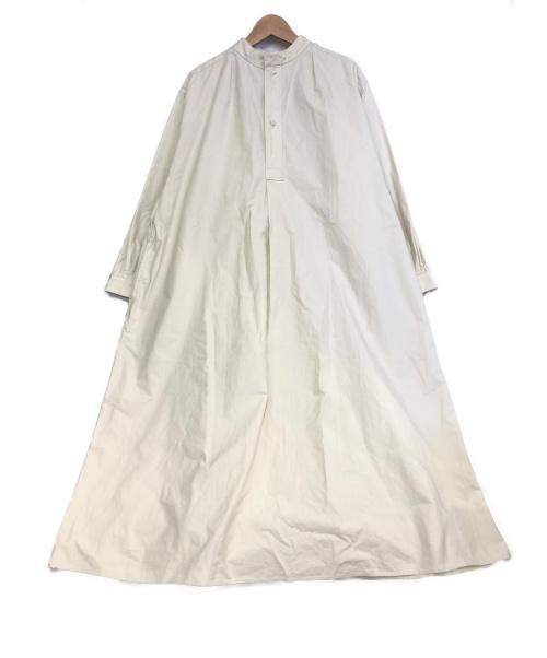 YAECA(ヤエカ)YAECA (ヤエカ) ロングスモッグドレス ホワイト/KOUZO サイズ:M LDKWARE/HOBONICHIの古着・服飾アイテム