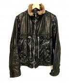 NEIL BARRETT(ニールバレット)の古着「レザージャケット」|ブラック