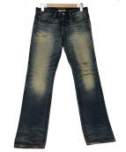 Ron Herman(ロンハーマン)の古着「ユーズド加工デニムパンツ」 ブルー