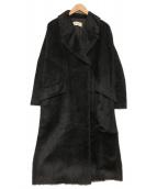 DES PRES(デ・プレ)の古着「アルパカウールロングコート」 ブラック