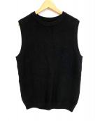 crepuscule(クレプスキュール)の古着「MOSS STITCH VES」|ブラック