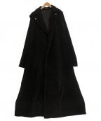 yohji yamamoto+noir(ヨウジヤマモトプリュスノアール)の古着「オーバーサイズロングコート」|ブラック