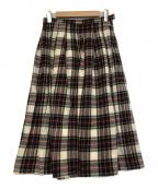 GRANDMA MAMA DAUGHTER()の古着「チェックスカート」|レッド×ホワイト