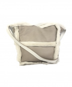 GINZA kanematsu(ギンザ カネマツ)の古着「ムートンショルダーバッグ」|グレー×ホワイト