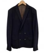 KOLOR(カラー)の古着「ウールダブルジャケット」|ネイビー