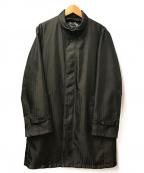 DURBAN(ダーバン)の古着「中綿ライナー付きステンカラーコート」|ブラック