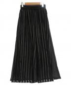 MIHARA YASUHIRO(ミハラヤスヒロ)の古着「シークレットストライプキュプラパンツ」|ネイビー