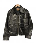 Y2LEATHER(ワイツーレザー)の古着「シングルライダースジャケット」|ブラック