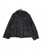 SONIA RYKIEL(ソニア リキエル)の古着「レオパード柄ダウンジャケット」|パープル×グレー