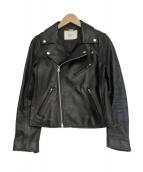 SLOBE IENA(スローブイエナ)の古着「ラムレザーライダースジャケット」|ブラック