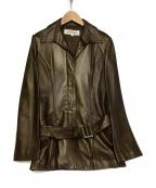 LAUTRE AMONT()の古着「ラムレザージャケット」|ブラウン