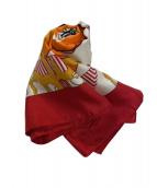 HERMES(エルメス)の古着「シルクスカーフ」|レッド