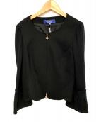 MS GRACY(エムズグレイシー)の古着「袖レースジャケット」|ブラック