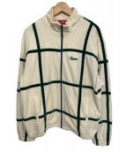 Supreme(シュプリーム)の古着「Grid taping Velour jacket」|ホワイト×グリーン