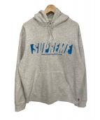Supreme(シュプリーム)の古着「reflective cut out hooded swea」|グレー