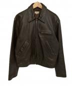 Paul Smith(ポールスミス)の古着「ラムレザージャケット」|ブラウン