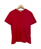 MONCLER(モンクレール)の古着「ポケットTシャツ」|レッド