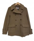 LONDON Tradition(ロンドントラディション)の古着「裏地チェック柄Pコート」|ブラウン