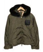 N°21 NUMERO VENTUNO(ヌメロヴェントゥーノ)の古着「ラビットファー中綿ジャケット」|オリーブ