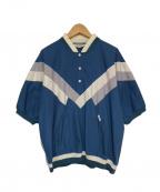 Christian Dior MONSIEUR(クリスチャンディオールムッシュ)の古着「オールドプルオーバーシャツ」|ブルー