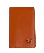 CHANEL(シャネル)の古着「カードケース」 オレンジ