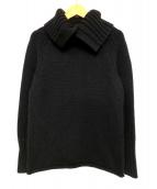 Ys(ワイズ)の古着「バックボタンハイネックセーター」 ブラック