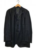 ()の古着「リネンジャケット」 ブラック