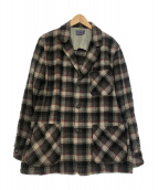 ()の古着「[VNTG] ウールチェックジャケット」 グレー
