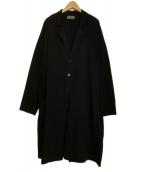 YOHJI YAMAMOTO(ヨウジヤマモト)の古着「19SS/天竺ロングジャケット」|ブラック