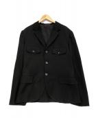 YOHJI YAMAMOTO(ヨウジヤマモト)の古着「07ss ウールギャバ ジャケット」|ブラック