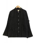 YS for men(ワイズフォーメン)の古着「ストライプシャツ」 グレー