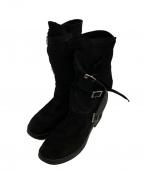 ANN DEMEULEMEESTER(アンドゥムルメステール)の古着「パイレーツブーツ」|ブラック