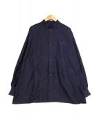 Needles(ニードルス)の古着「スタンドカラーアーミーシャツ」 パープル