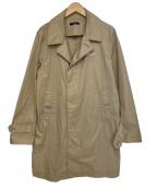 UNDERCOVER(アンダーカバー)の古着「バックプリントステンカラーコート」|ベージュ