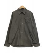 UNDERCOVER(アンダーカバー)の古着「BLOODY GEEKERS刺繍シャツ」 グレー