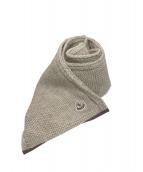 MONCLER(モンクレール)の古着「アルパカ混ニットマフラー」|ベージュ