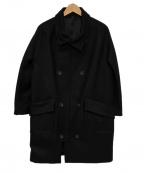 edition(エディッション)の古着「スタンドカラーコート」|ブラック