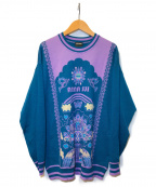 ANNA SUI(アナスイ)の古着「ロゴデザインクルーネックニット」 ネイビー
