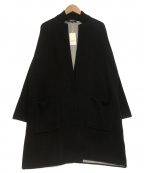COMME CA ISM(コムサイズム)の古着「ニットロングジャケット」 ブラック