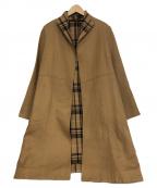GIANNI LO GIUDICE(ジャンニ ロ ジュディチェ)の古着「ブリティシュチェックコート」|ベージュ