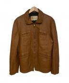 W.B.PLACE&Co(ダブリュービープレイスアンドコー)の古着「[VNTG]ディアスキンレザージャケット」|ブラウン