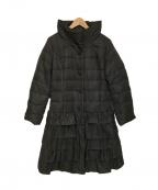 GALLERY VISCONTI(ギャラリービスコンティ)の古着「ティアードフリルダウンコート」|ブラック