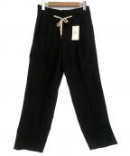 ami(アミ)の古着「ドローストリングウエスト コットンツイルパンツ」 ブラック
