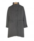 COUP DE CHANCE(クードシャンス)の古着「スタンドカラーコート」|グレー