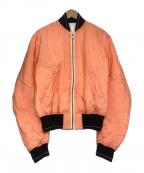 HAIDER ACKERMANN(ハイダーアッカーマン)の古着「ストライプボンバージャケット」 ピンク