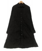 YOHJI YAMAMOTO(ヨウジヤマモト)の古着「2 Collar long Blouse」|ブラック