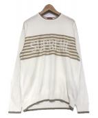 Supreme(シュプリーム)の古着「chest stripe sweater」|ベージュ