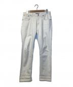 NUDIE JEANS(ヌーディジーンズ)の古着「ホワイトデニムパンツ」|ホワイト