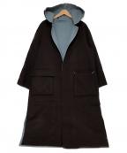 EMMEL REFINES(エメル リファインズ)の古着「リバーシブルコート」|スカイブルー×グレー